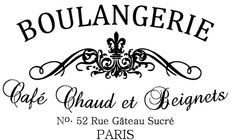 Boulangerie - French Bakery 12x20 Vinyl Decal - Wall Decal - French Stencil - Boulangerie - Paris Decal on Etsy, $24.00