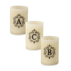 Monogrammed LED Blowout Candle - Bed Bath & Beyond