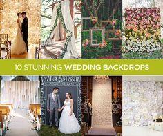 10 Stunning Wedding Backdrops