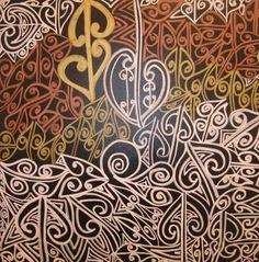 tracey tawhaio Tesselations, Polynesian Art, New Zealand Art, Atelier D Art, Nz Art, Wood Carving Designs, Maori Art, Kiwiana, Jpg