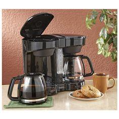 Dual Coffee Maker Black - http://www.facebook.com/1556872881233925/posts/1587183534869526