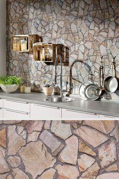 #Natursteinwand Für Deine #Küche   Kein Problem. Täuschend Echt Und Ohne  Viel Aufwand