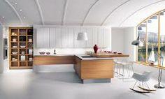 40 Modern Kitchen Island Design, Ideas with Photos - Modern Kitchen Island, Modern Kitchen Cabinets, Kitchen Cabinet Doors, Kitchen Furniture, New Kitchen, Kitchen Islands, Awesome Kitchen, Beautiful Kitchen, Rustic Kitchen