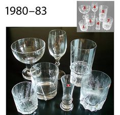 Kosta Boda, Marimekko, Glass Collection, Dinnerware, Shot Glass, Mid-century Modern, Vintage, Gravity Falls, Tableware