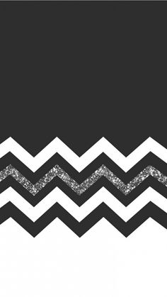 Black and White Glitter. Tap to see more Beautiful iPhone HD Wallpapers for Girls. Chevron glitter girly #blackandwhite - @mobile9