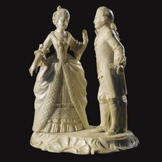A Continental carved ivory group of the dance, circa 1890.