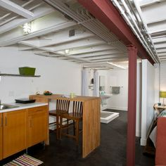 357332551654296333 Exposed Joists Basement Remodel. Unfinished Basement  CeilingUnfinished BasementsIndustrial BasementModern ...