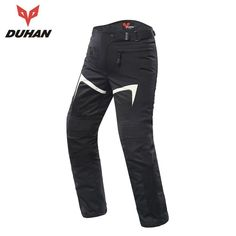 M- Waist 33 Mens Motorcycle Pants Protection Lining Motorbike Trousers with 2 Pair Protect Pads Black