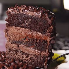 This Moist Chocolate Cake recipe is seriously the best chocolate cake you'll ever make. It's EASY to make & so moist and rich in chocolate flavor! Easy Cake Recipes, Sweet Recipes, Baking Recipes, Cookie Recipes, Dessert Recipes, Popcorn Recipes, Party Desserts, Fudge Recipes, Dinner Recipes