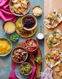 Nacho bar: http://www.stylemepretty.com/living/2016/09/24/get-ready-for-game-day-with-these-home-gating-essentials/