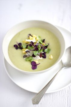 Cauliflower Soup with Garlic Scapes | farm on a plate