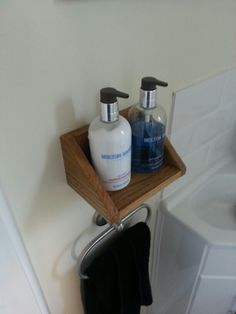 Home made soap dispenser holder