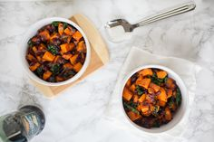 In need of a quick but delicious side dish for dinner? This sweet potato and kale sauté is perfectly delicious and easy to make.