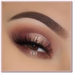 Rose gold eyeshadow look with perfect eyebrows, glam eyeshadow look for . - Rose gold eyeshadow look with perfect eyebrows, glam eyeshadow look for going out and – Best Pint - Gold Eyeliner, Rose Gold Eyeshadow Look, Rose Gold Makeup, Rose Gold Hair, Maroon Makeup, Natural Eye Makeup, Smokey Eye Makeup, Eyebrow Makeup, Makeup Eyeshadow