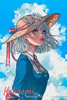 @kalisami Cartoon Kunst, Cartoon Art, Personajes Studio Ghibli, Howl And Sophie, Illustration Manga, Character Illustration, Studio Ghibli Art, All Studio Ghibli Movies, Studio Ghibli Characters