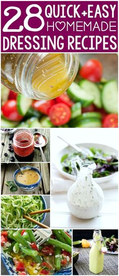 No more boring salads... ever! These dreamy homemade dressing recipes will make you want to scarf salads all Summer long! :: stop buying expensive dressing and start making it at home!
