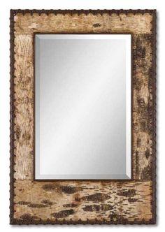Birch Bark Mirror - Western Decor - Cabin Decor