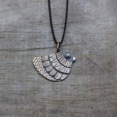 Bronze Mexican Bird Necklace