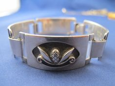 Georg Jensen USA Mid Century Modern Sterling Bracelet Pine Cone Design