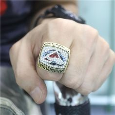 Custom 2001 Colorado Avalanche Stanley Cup Championship Ring