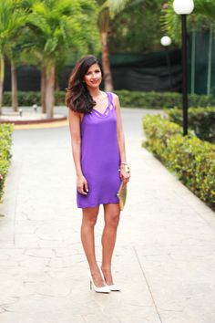 @dvf dress - love this shade of purple so much!
