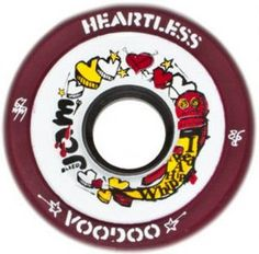 VooDoo Heartless wheels – uncoated concrete/cement, uncoated/dusty wood floors or old sport tile. Roller Skate Wheels, Roller Derby, Roller Skating, Derby Skates, Concrete Cement, Voodoo, Floors, Tile, Creeper