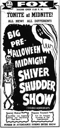 Big Pre-Halloween Midnight Shiver Shudder Show