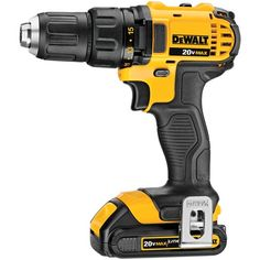 Dewalt MAX Lithium-Ion Compact in. Cordless Drill Driver Kit Ah). MAX Cordless Lithium-Ion in. Compact Drill Driver - Compact, lightweight design fits into tight areas. Dewalt Tools, Dewalt Drill, Cordless Drill Reviews, Cordless Hammer Drill, Driver Tool, Drill Driver, Cordless Power Tools, Impact Wrench, Yellow