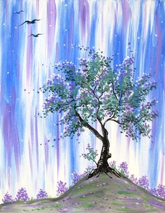 Periwinkle Blossoms at The Greene Turtle (Germantown) - Paint Nite Events