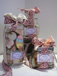 Lindos biscoitos, em um vidro mais lindo ainda!