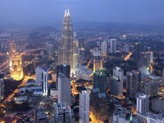 Kuala Lumpur, Malaysia.. I'll be seeing you in a weeks time for some serious shopping!