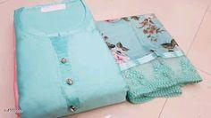 Elegant Jam Silk Women Dress Material with Dupatta from Stf Store Cotton Salwar Kameez, Salwar Suits, Churidar Designs, Dress Indian Style, Lining Fabric, Cotton Silk, Types Of Fashion Styles, Cotton Dresses, Blouse Designs