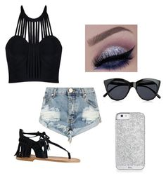 """""""Untitled #42"""" by laylay1224 ❤ liked on Polyvore featuring Posh Girl, OneTeaspoon, Sigerson Morrison and Le Specs"""