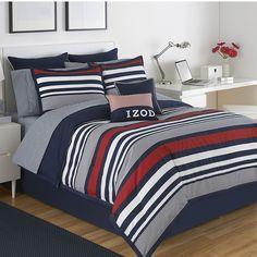 IZOD Varsity Stripe 3-pc. Reversible Comforter Set - XL Twin, Blue