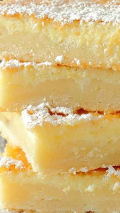 Southern Style Buttermilk Slab Pie ~ The result is a buttery crust topped with a nutmeg and lemon infused custard... Easier to slice than a pie, cut these into bars and serve at room temperature dusted with powdered sugar.