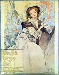 Mucha's Baxter Girl by Alphonse Mucha