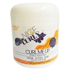 Curl Me Up Curly Pudding: is a defining and softening pudding that is enriched with Shea Butter, Avocado, Sweet Almond Oil and Mango Butter. Curl Me Up Curly Pudding will condition and hydrate while nourishing from roots to end.