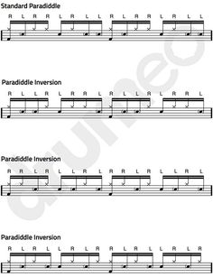 Single Paradiddle Exercises.