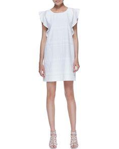 Pin for Later: Ohne Lochstickerei ist der Sommer nicht perfekt Rebecca Minkoff White Eyelet Kleid Rebecca Minkoff Excellent Sand Eyelet Dress ($278)