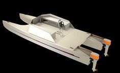 Boat Plans - Plywood cored fiberglass Catamaran - Master Boat Builder with 31 Years of Experience Finally Releases Archive Of 518 Illustrated, Step-By-Step Boat Plans Free Boat Plans, Wood Boat Plans, Sailboat Plans, Shallow Water Boats, Simple Boat, Runabout Boat, Trailer Plans, Boat Trailer, Paddle Boat