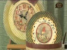 #Manidilara Speciale Creativamente Donna Découpage e Stencil Christmas time - YouTube
