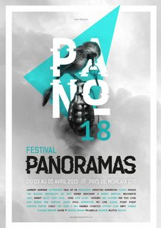 Festival Panoramas 2015 Creative Poster Design, Graphic Design Posters, Graphic Design Inspiration, Logo Festival, Festival Posters, Thing 1, Magazine Design, Editorial Design, Portfolio Design