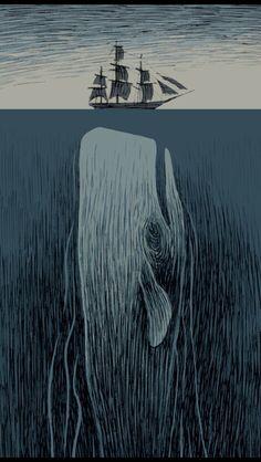 Whale & ship.