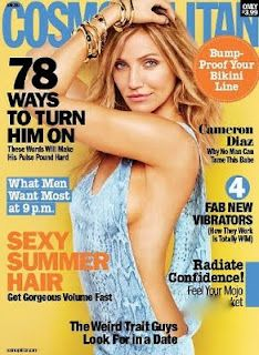 Cosmopolitan Magazine Cameron Diaz Sexy Summer Hair Confidence Bikini Line 2011 Cameron Diaz, There's Something About Mary, What Men Want, Cosmopolitan Magazine, Instyle Magazine, Blue Jumpsuits, Social Trends, Julianne Hough, Summer Hairstyles