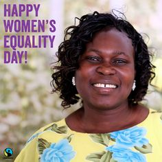 """Fairtrade has changed a lot. Women & men now have the same rights."" —Rosemary Achieng Click the Pin to learn how! Women's Rights, Happy Women, Fair Trade, Kenya, Equality, Women Rights, Fair Trade Fashion, Social Equality"
