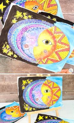 Sun and Moon Art for Kids
