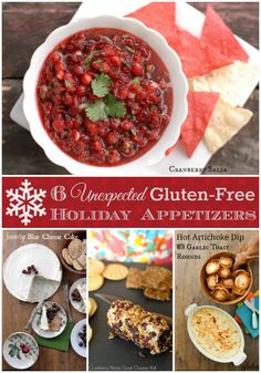 Six Unexpected Gluten-Free Holiday Appetizers Gluten Free Thanksgiving, Thanksgiving Recipes, Holiday Recipes, Holiday Appetizers, Appetizers For Party, Appetizer Recipes, Vegan Gluten Free, Gluten Free Recipes, Paleo