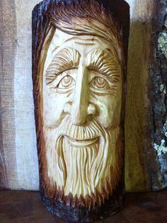 Friendly Woodspirit....carved by Elizabeth Brown