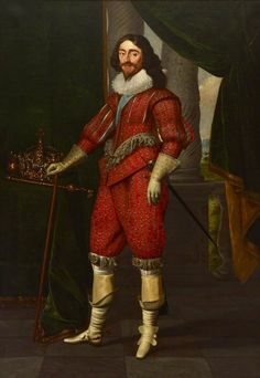 1631,  Charles I (1600–1649), King of Great Britain and Ireland.  Daniel Mytens (c.1590–1647).  National Maritime Museum.