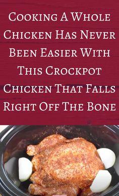 Crock Pot Food, Crockpot Dishes, Crock Pot Slow Cooker, Slow Cooker Chicken, Slow Cooker Recipes, Crockpot Recipes, Easy Chicken Recipes, Meat Recipes, Cooking Recipes